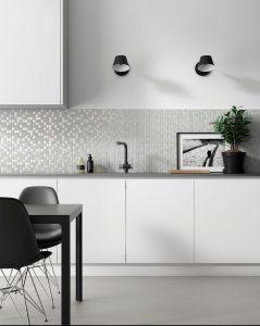 Ejemplo del mosaico de interior en la cocina, serie Antártica