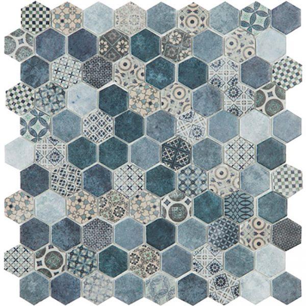 Decor Terre Blue Mix Hex